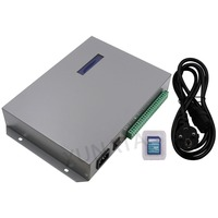 T 300K SD Card Online VIA PC RGB Controllers Full Color LED Pixel Controller 8ports Support For IC WS2811 SK6812 WS2812B WS2801