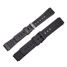 Silicone Rubber 16mm Watchband Band Men Sports Diving Black Strap Replacement Wristwatch Belt Watch Accessories Loop все цены