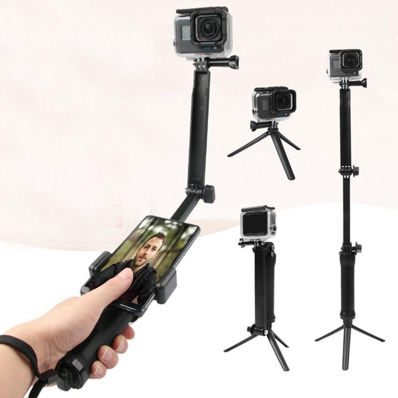 3 Way Grip Waterproof Monopod Selfie Stick For Gopro Hero 7 6 5 4 3+ Session SJCAM Xiaomi