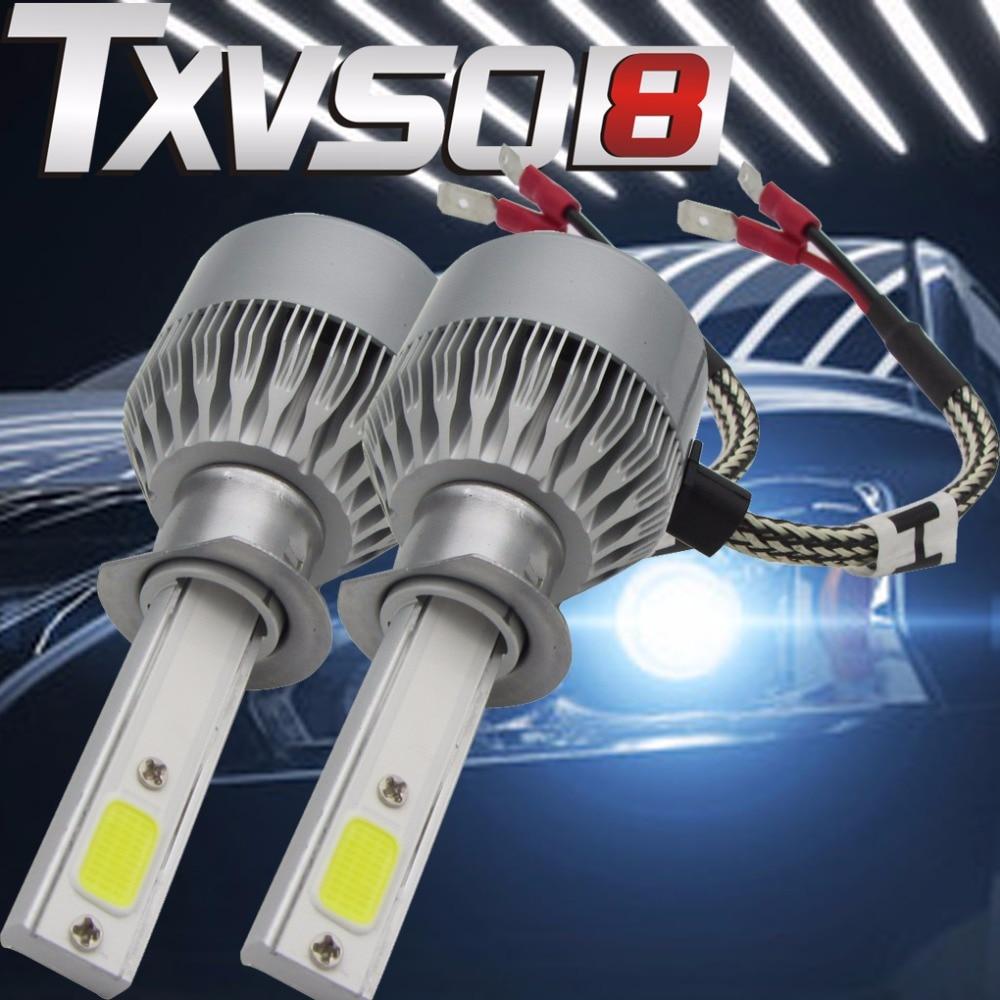 TXVSO8 110W/Pair H1 COB Led Headlamp Light Beam Car Led Headlight Bulb Kit White 6000K 9200LM Auto LED Head Lamp light Source 12v led light auto headlamp h1 h3 h7 9005 9004 9007 h4 h15 car led headlight bulb 30w high single dual beam white light