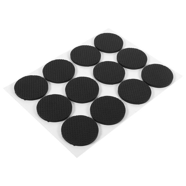 WALFRONT 12Pcs/Lot Round Non Slip Rubber Feet Pads Self Adhesive Floor  Protectors Pad