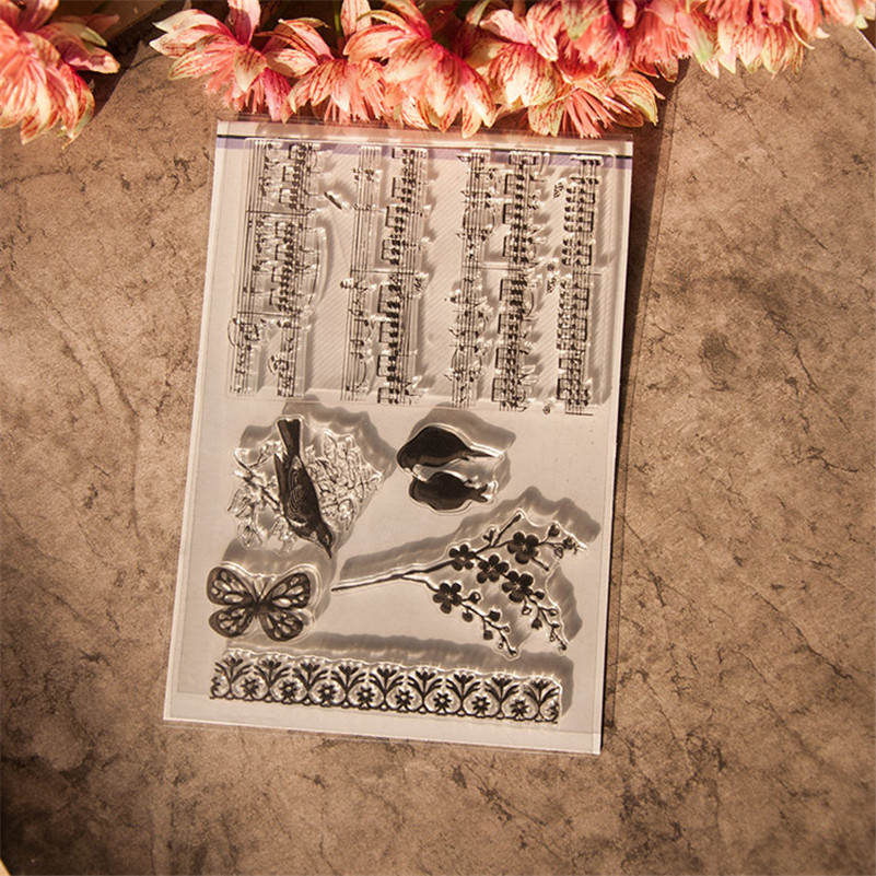 New arrival about note and bird design scrapbooking clear stamps christmas gift for DIY paper card photo album RM-135 140 page note paper creative fruit design