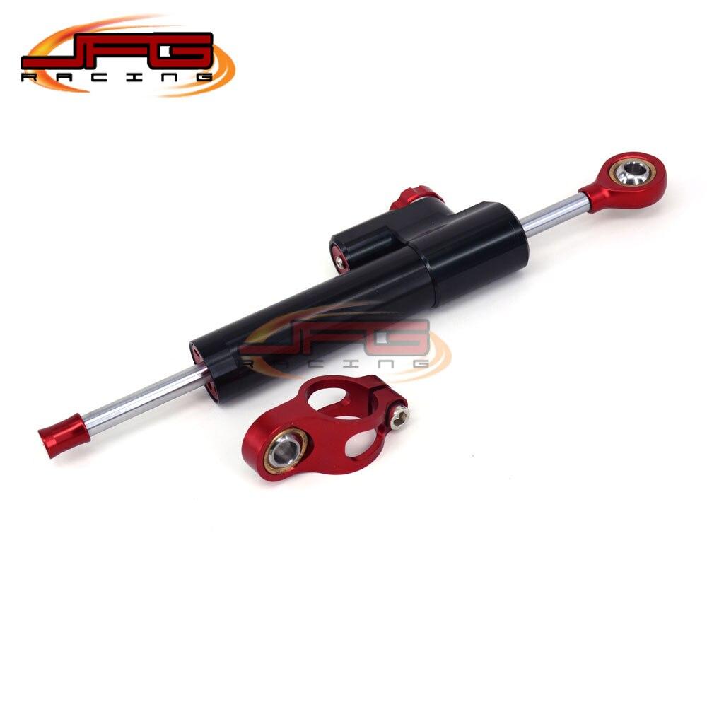 ФОТО CNC Steering Damper Stabilizer Linear Reversed Safety Control For CBR250R CBR600RR CBR954 CBR1000RR CB400 CB1100RR Motocross