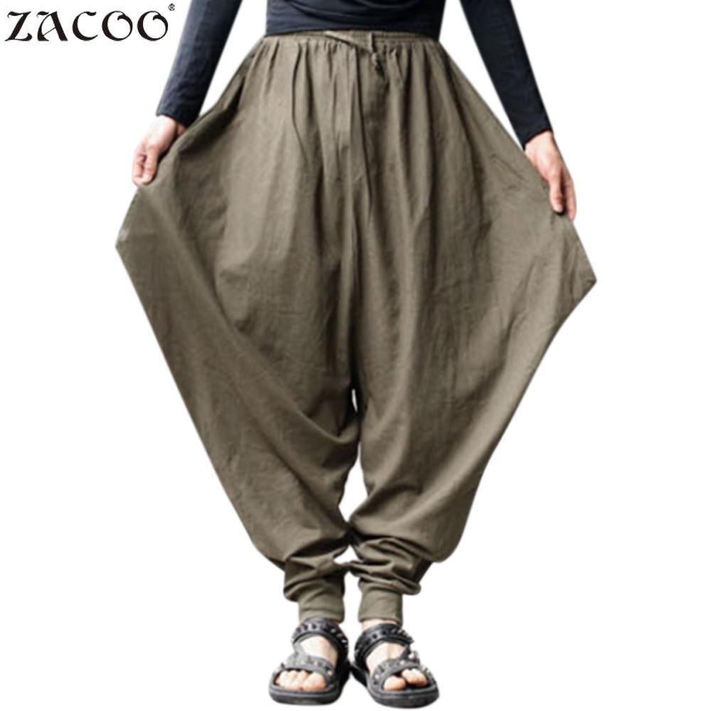 Amiable Fashion Boy Cross Loose Pants Plus Size Solid Hip Hop Big Size Men's Long Pants 2018 Ins Hot Men's Oversize Pants Autumn San0 Yet Not Vulgar