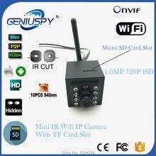 1MP 720P Indoor 940nm Invisable IR Leds Wifi Wireless Ip Camera Sd Card Video Surviallance P2P Onvif HD Mini IP Cam WIFI IR-CUT