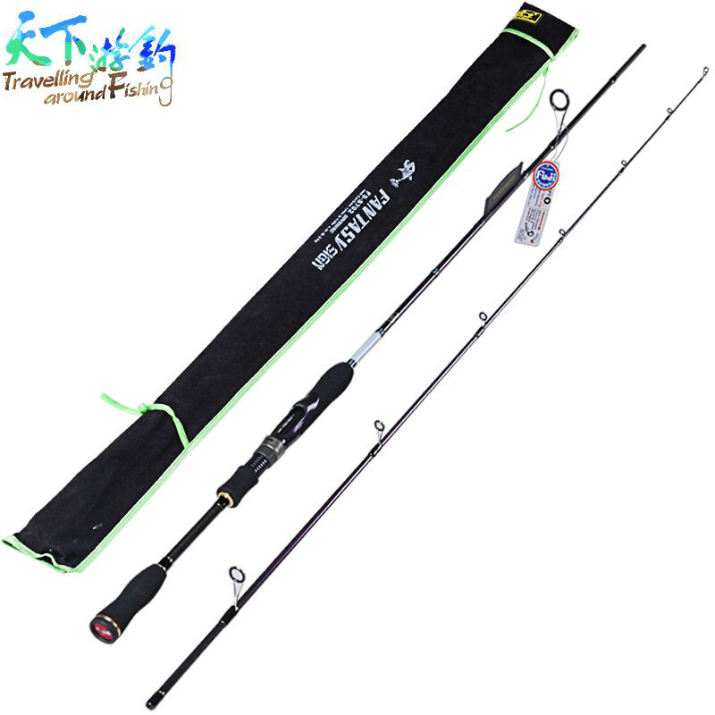 Spinning Fishing Rod 2 Section1.8m,2.1m,2.4m Power:ML/M/MH IM8 Carbon Lure Rods Vara De Pesca Canne A Peche Fishing Tackle Carp 2 secs wood handle spinning fishing rod 1 98m 2 1m 2 4m power ml m mh carbon lure rods vara de pesca peche stick fishingtackle