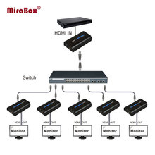 Mirabox HDMI Extender Receiver Maximum 253 receivers over cat5/cat5e hdmi extender work like splitter support 1080p RX only