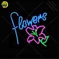 Неоновая вывеска цветы неоновые вывески для бизнес-арт комнаты ресторана стеклянные трубки неоновые лампы вывеска украшения стены ручной ...