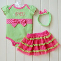 Infantil Baby Girl Polka Dot Headband + Romper + Vestido de Tule Tutu Outfits Traje