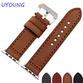 New arrival Quality Genuine Leather Watchband For Apple Iwatch Band 38mm 42mm With Adapter