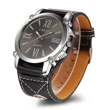 1PC Luxury Women Men Watches Analog Roman Clock Big Dial Quartz Sport Leather Unisex Wrist Watch wholesaleF3