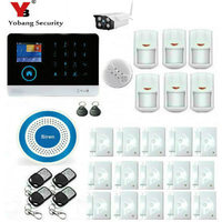 YobangSecurity Wireless WIFI GSM GPRS Home Security System Alarm Wireless Outdoor IP Camera Siren Smoke Detector iOS Android App