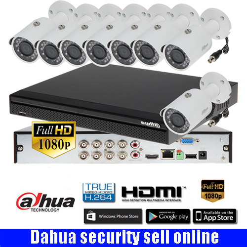 Freeship Dahua 8CH XCVR5108HS-S3 CVR Camera Kit With Dahua 1080P CVI Camera CVI-HFW1200S IR30M Waterproof HDCVI Camera Kits