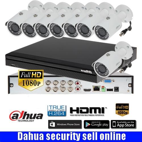 Freeship Dahua 8CH XCVR5108HS-S3 CVR Camera Kit With Dahua 1080P CVI Camera CVI-HFW1200S IR30M Waterproof HDCVI Camera Kits