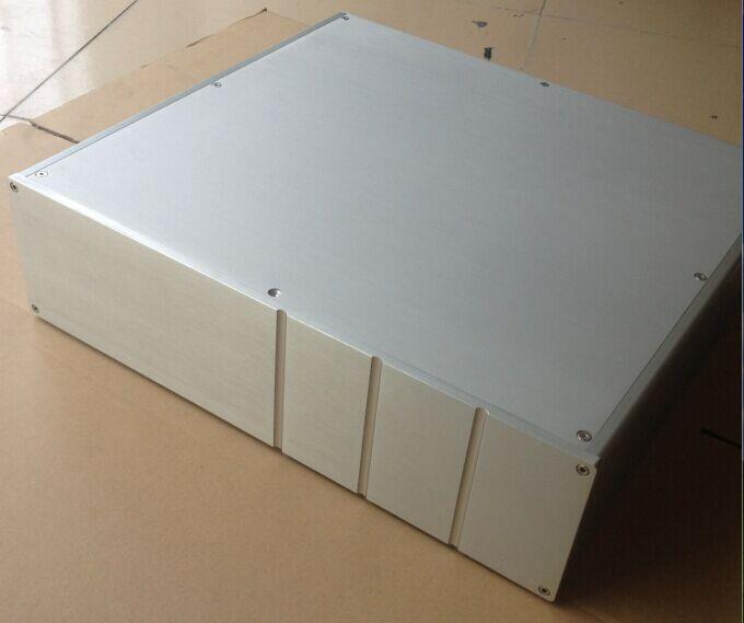 DIY case 450*120*410mm 401 aluminum amplifier chassis/Class A amplifier chassis/ Tube amp chassis/ AMP case Enclosure /Box DIY breeze audio aluminium enclosure wire drawing of 1969 a chassis amp chassis aluminum amplifier enclosure diy amplifier chassis