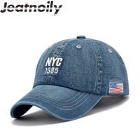 JEATNOILY High Quality Letter Baseball Caps For Men Women Cowboy Sun Hats Outdoor Leisure Hip