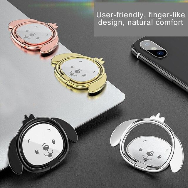 Doitmy Deslumbrante Galvanoplastia Anel Magnético Suporte Cão Bonito Do Telefone Móvel Do Carro Universal Suporte de Mesa para o iphone X/8 Telefone titular