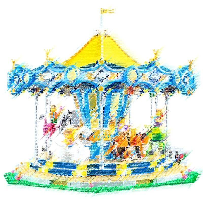 DHL IN STOCK City Street View Ferris Wheel Carousel Sets Model Building Kits Blocks Bricks Educational