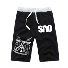 Anime Sword Art Online Casual Pockets Shorts Mens Beach Cartoon Cosplay Short Pants Sport Jogger Fitness Knee Length Trousers