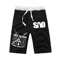 Anime Sword Art Online Casual Pockets Shorts Mens Beach Cartoon Cosplay Short Pants Sport Jogger Fitness