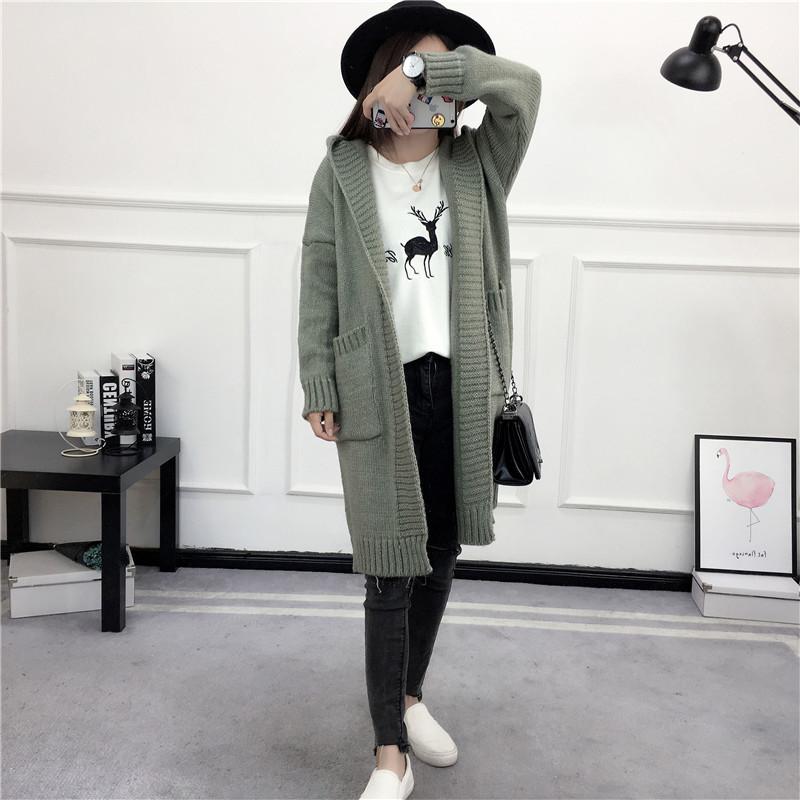 HTB1gmX3SVXXXXb8XXXXq6xXFXXX2 - Women Long Knitted Sweater Coat Hooded Sweater Cardigans JKP039