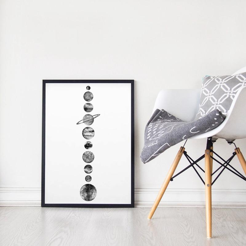 Solar System Canvas Print Living Room Decor