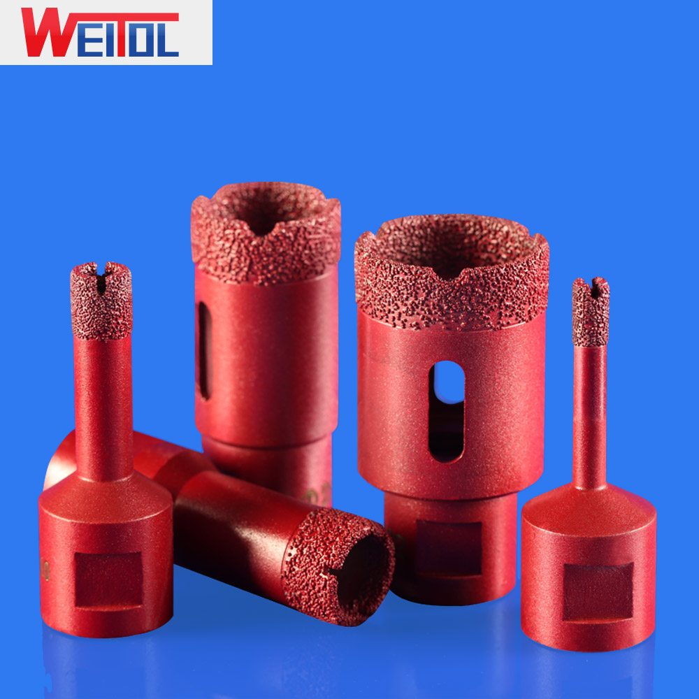 WeiTol 1pcs Diamond Vacuum Brazed Drilling Core Bits M14 Connection Drill Bits Hole Saw Diamond Emery Drill Tools For Marble