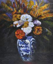 Kitchen Dahlias Painting