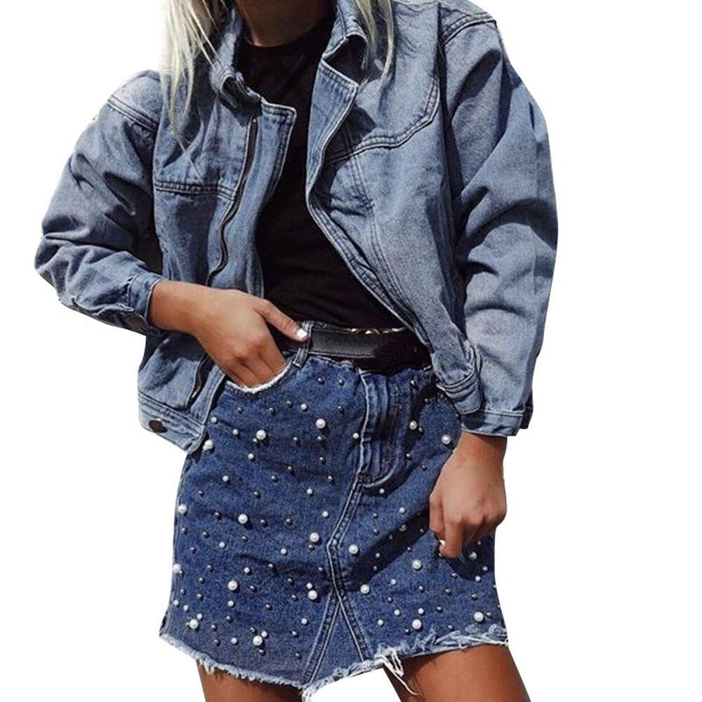snowshineYLW  Women Ladies Irregular Denim Skirt High Waist Bodycon Pencil Short Mini Skirt freeshipping