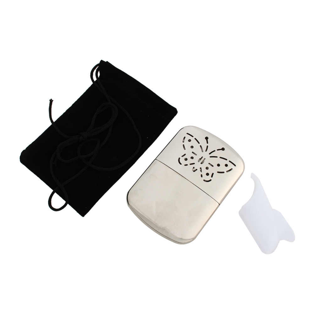 Pocket Hand Warmer Stainless Steel Reusable Fuel Hand Warmer Heater Long-life Ultralight Indoor Outdoor Small Handy Warmer