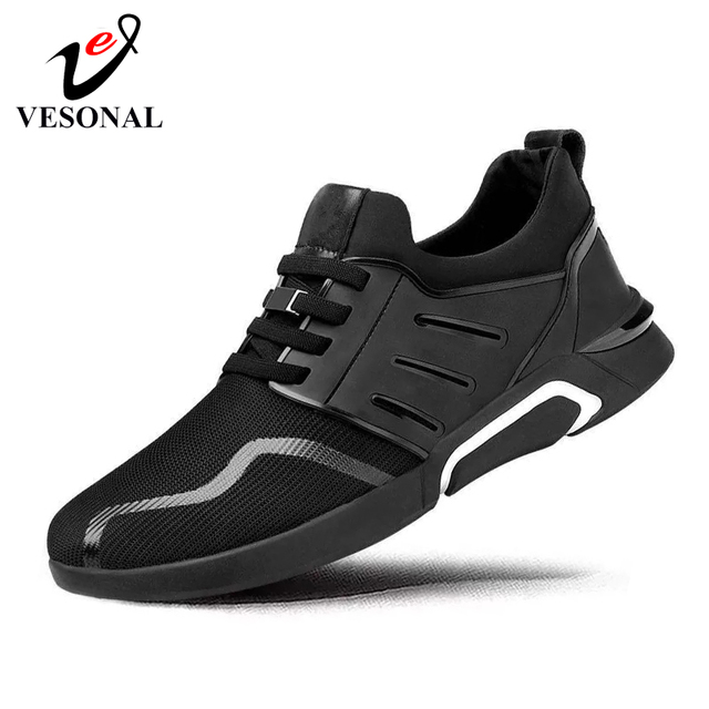 VESONAL 2019 New Sneakers Men Shoes Breathable Comfortable Mesh Men Sports Shoes Running Shoes Lightweight Outdoors Male