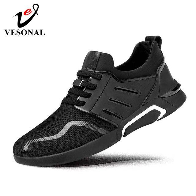 VESONAL 2019 חדש סניקרס גברים נעליים לנשימה נוח רשת גברים ספורט נעלי ריצה נעליים קל משקל בחוץ זכר