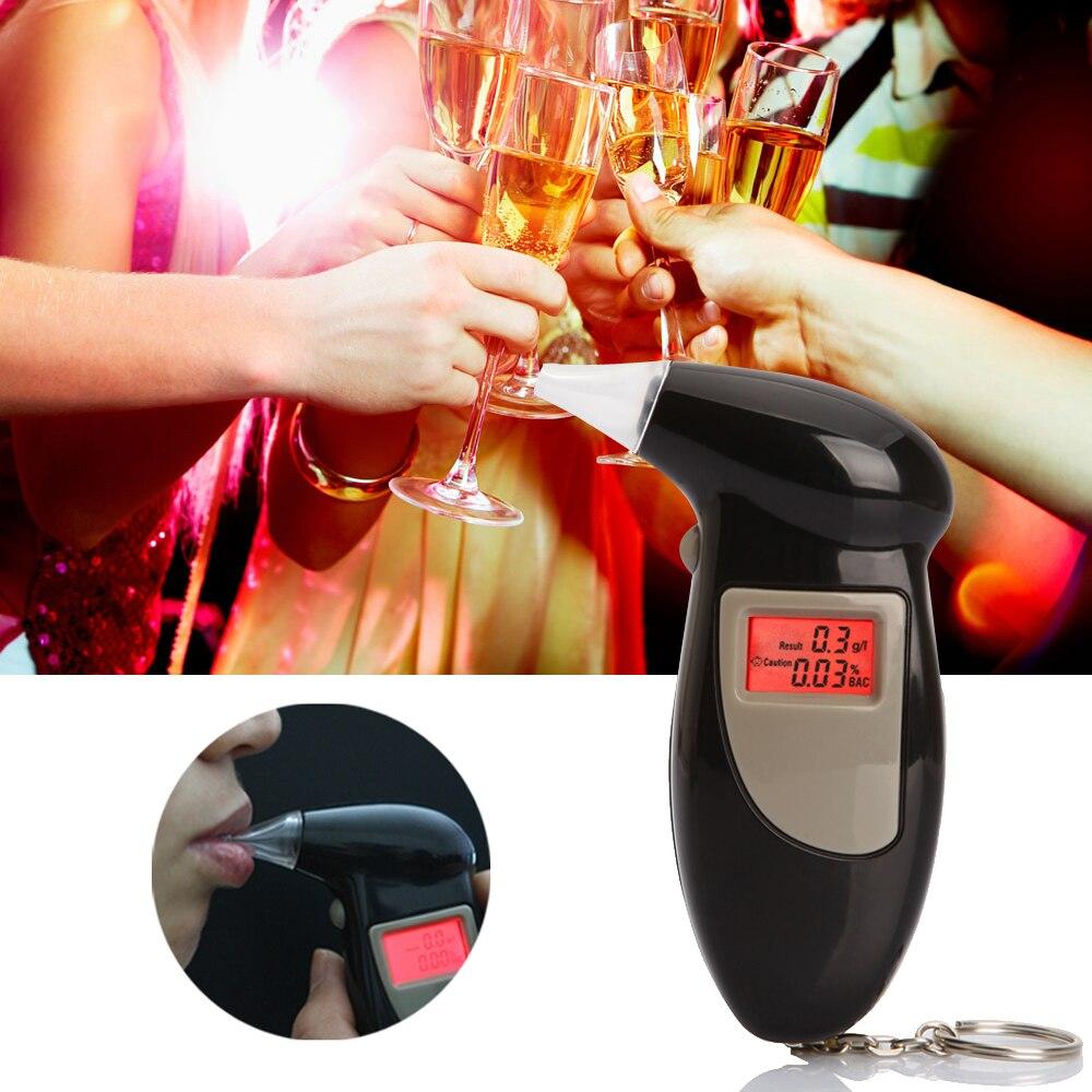 Epacket Frete Grátis, Chaveiro Alcohol Tester, Analisador do álcool da Respiração, Bafômetro Digital com 5 bocal Drop Shipping