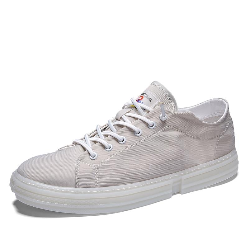 Hommes chaussures d'été chaussures décontractées hommes respirant toile baskets à lacets couleur unie plein air décontracté travail chaussures chaussures décontractées sauvages 4