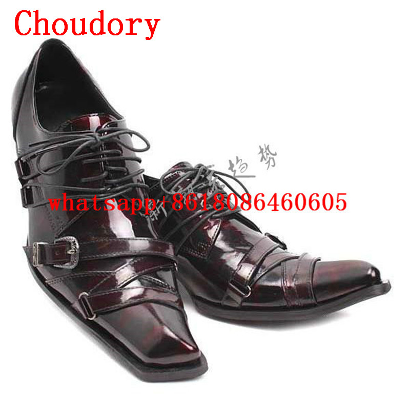 Choudory mens italian leather shoes balck lace up loafers square toe zapatos hombre high heels oxford for men luxuryChoudory mens italian leather shoes balck lace up loafers square toe zapatos hombre high heels oxford for men luxury