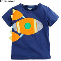 Little Maven Kids Brand Clothing 2016 Summer Boys Cotton Short Sleeve O Neck Fashion Design T