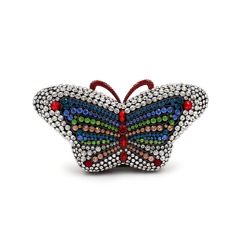 New Women Lady Female Butterfly Shape Party Handbags Evening Bags Wedding Clutch Prom With Chain Silver new women lady female butterfly shape party handbags evening bags wedding clutch prom with chain silver