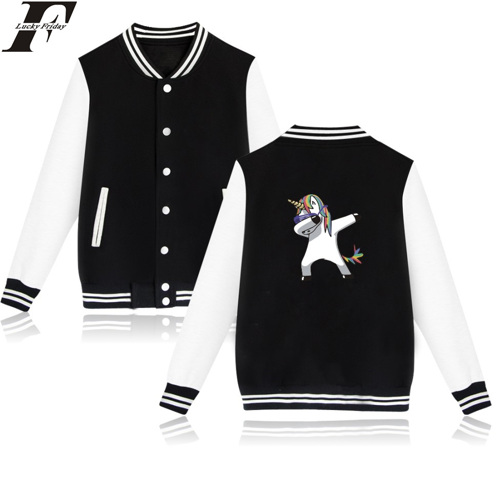 LUCKYFRIDAYF Aminal Print Horse Jacket Sweatshirt Women Kawaii Cartoon Dog Hoodies Women Fashion Casual Baseball Jacket Clothes