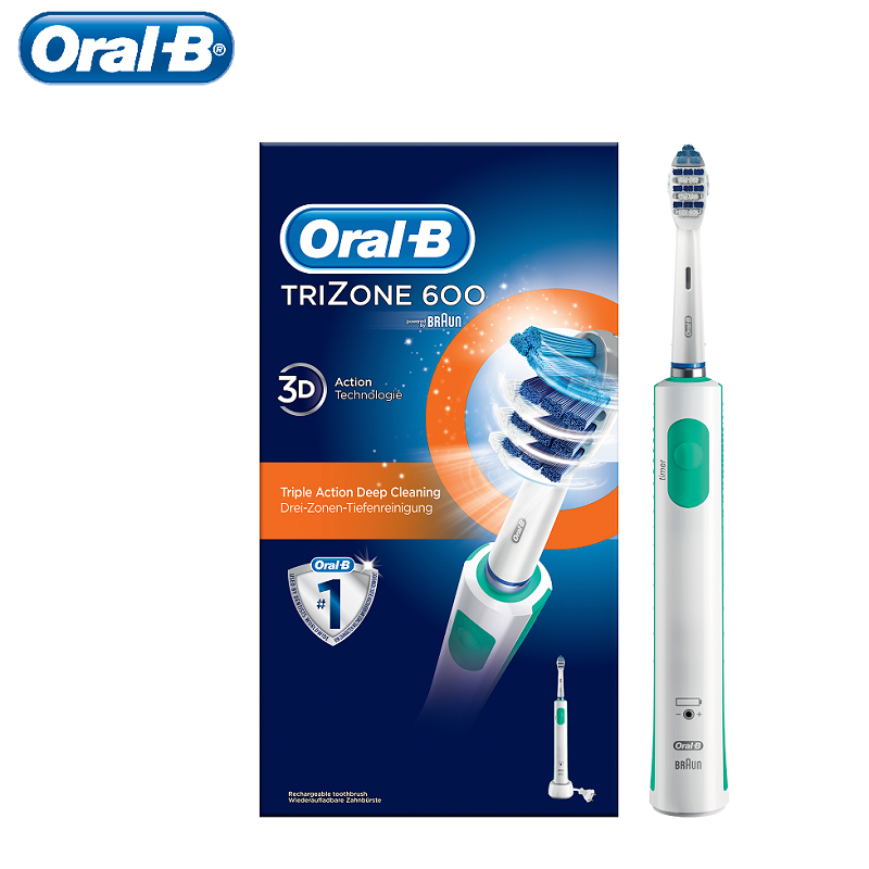 Oral B Electric Trizone 600 scrub brush Rechargeable With Technology Braun, 1 Handle AND 1 'S Head theeth 'S scrub brush image