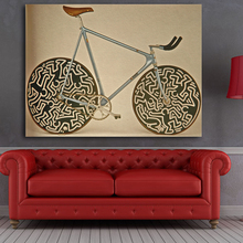 Famous Brand Cinelli Bike Picture Abstract Art Wall Decoration Classical Canvas Printed Paintings For Living Room Wall