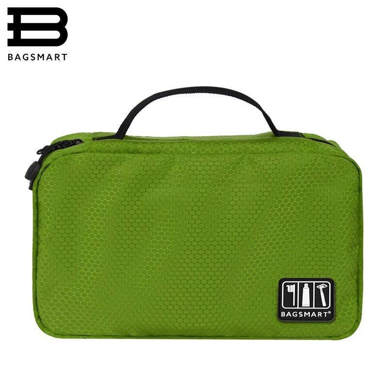 BAGSMART Nylon Portable Toiletry Bag Travel Hanging Toiletry Cosmetic Bag Carry-on Cosmetic Bag Makeup Bag Pack Luggage Suitcase