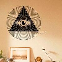 All Seeing Eye Piramit Duvar Çıkartmaları Çıkarılabilir Vinil Sanat Duvar Çıkartmaları Yeni Tasarım Su Geçirmez Moda Stil