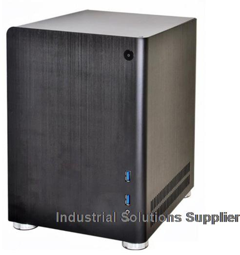 New PC-Q01 Black Silver Aluminum ITX Mini Case roomble progetti q01