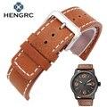 Comercio al por mayor 10 unid/set Moda Durable Hombres Reloj de La Correa 20 22mm Genuina Correa de Cuero Grueso Cinturón de Hebilla de Metal Accesorios