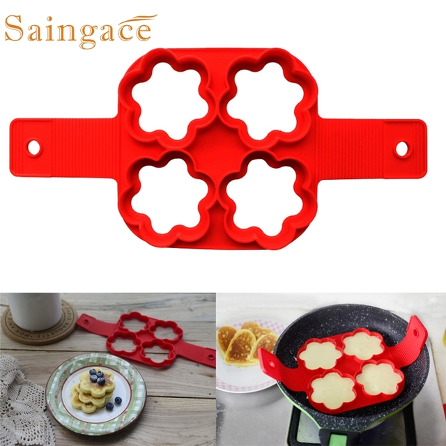 Saingace molde tortitas New flower shape mould Fantastic Fast & Easy Way  of kitchen to cook eggs*30 GIFT 2017 Drop shipping