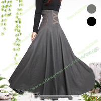 2019 80% Wool Autumn Plus Large Size 5XL Vintage Retro Casual High Waist Woolen Sun Pleated Female Maxi Ladies Skirt Designs