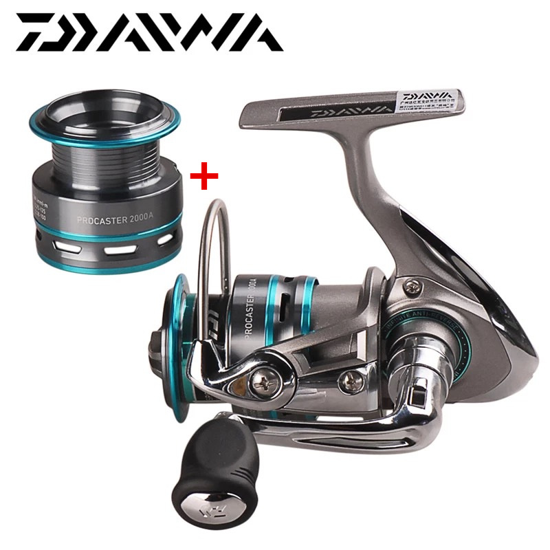 100% Original DAIWA PROCASTER 2000A 2500A 3000A 4000A Spinning Fishing Reel 7BB Saltwater Carp Feeder+Spare Spool Moulinet Peche