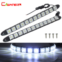 Cawanerl Car DRL Daytime Running Light Auto Driving Lamp 24W 1200LM Set 12V Car Styling Daylight
