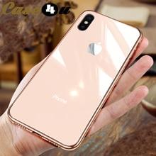 Анти шок закаленное стекло защитный телефонные чехлы для iPhone 6 6S 7 8 плюс мягкие ТПУ Край жесткий чехол для iPhone XS Max XR X 10