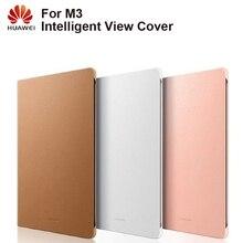 """Huawei oryginalny inteligentny Tablet skrzynki widok okładka etui z klapką etui na Huawei M3 8.4 """"obudowa funkcja uśpienia inteligentne etui na Tablet"""